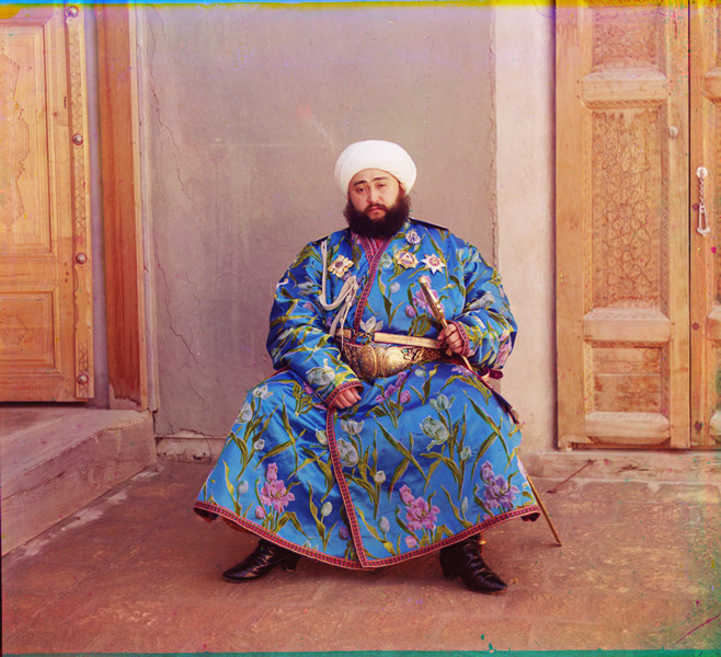 "Emir of Bukhara, 1911 © Sergei Mikhailovich Prokudin-Gorskii, from the book ""Nostalgia"". Images courtesy US Library of Congress and Gestalten publishers, Berlin."