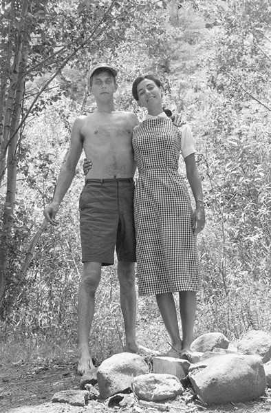 Taos, New Mexico, 1958 (with Maria) © Lee Friedlander, from the book, In the Picture Self Portraits 1958-2011.