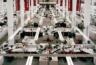 Newsroom, Facing 15th Street, 6:11pm, 2010 © Will Steacy