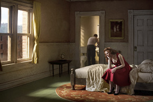 "Pink Bedroom (Daydream). From the series ""Hopper Meditations"" © Richard Tuschman."