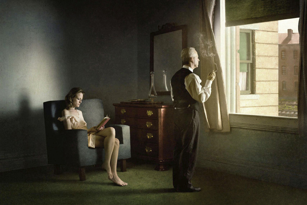 """Hotel By Railroad. From the series """"Hopper Meditations"""" © Richard Tuschman"""