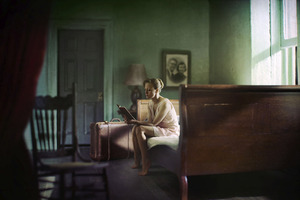 "Woman Reading. From the series ""Hopper Meditations"" © Richard Tuschman"