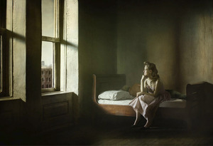 "Woman And Man On A Bed. From the series ""Hopper Meditations"" © Richard Tuschman"