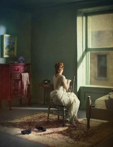 "Green Bedroom (Morning). From the series ""Hopper Meditations"" © Richard Tuschman"