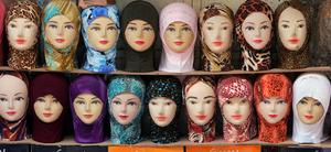 Jerusalem, Feb 07 - Muslim boutique in the old city market © Natan Dvir