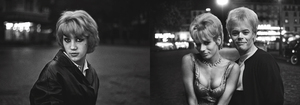 Left: Teresa, 1960. Right: Catherine  Mme Marcelle, 1961. From the photobook Les amies de place Blanche, Aman Iman Éditions. © Christer Strömholm.