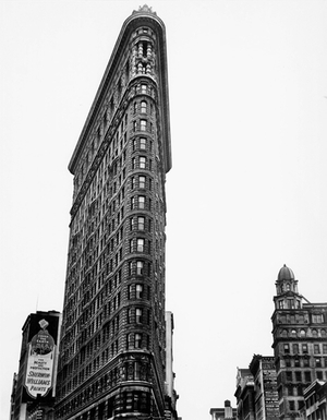 Berenice Abbott, Flat Iron Building, Broadway and Fifth Avenue, New York City, 1938 Gelatin silver print, 101.5 x 76 cm Ronald Kurtz / Commerce Graphics © Berenice Abbott / Commerce Graphics Ltd, Inc.