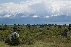 "The old cemetery close to Lake Tanganyika. Congo is just across the water. From ""Only in Burundi"" © Anaïs López"