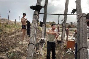 Cutting the sheep after the ritual. From the series Apashka by © Pavel Prokopchik