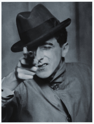 Berenice Abbott, Jean Cocteau with Gun, 1926 Gelatin silver print, 35.5 x 28 cm Ronald Kurtz / Commerce Graphics © Berenice Abbott / Commerce Graphics Ltd, Inc.