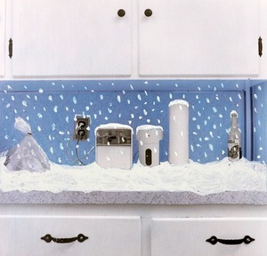 Countertop, Snowing, from Series of Countertop Landscapes © Joanne Leonard