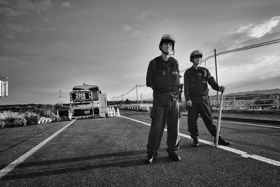 "Check point, from the series Fukushima ""No Go"" Zone, © Pierpaolo Mittica."