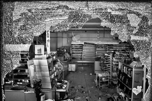 "Market devastated by thieves, Namie city, from the series Fukushima ""No Go"" Zone, © Pierpaolo Mittica."