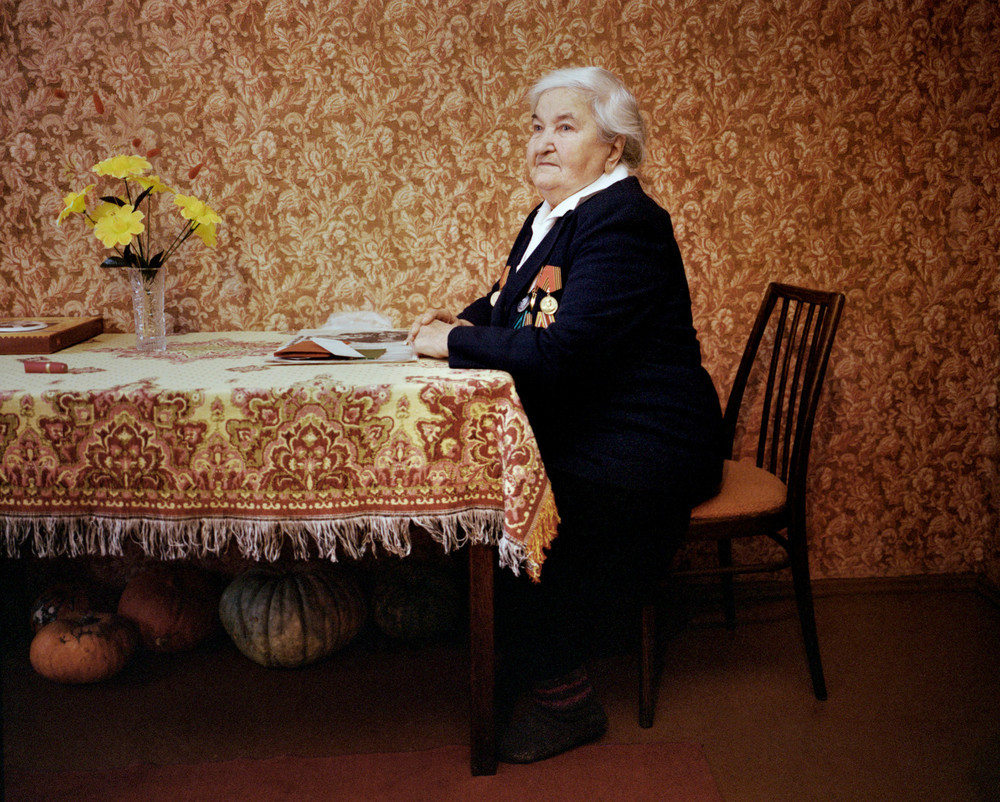 "Zinaida Nikolaieva Famienska, Maladechna, was in the partisan force. From the series, ""I Reminisce and Cry for Life (Women veterans of II World War in Belarus)"" © Agnieszka Rayss. Finalist, LensCulture Exposure Awards 2013."