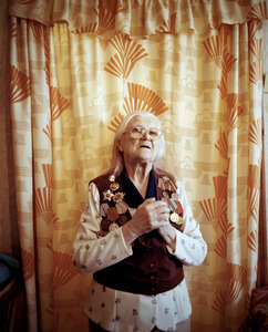 "Elizaveta Ivanonvna, Maladechna, was in the partisan force. From the series, ""I Reminisce and Cry for Life (Women veterans of II World War in Belarus)"" © Agnieszka Rayss. Finalist, LensCulture Exposure Awards 2013."