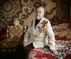 "Maria Antonovna, Zaskovichi, was in the partisan force. From the series, ""I Reminisce and Cry for Life (Women veterans of II World War in Belarus)"" © Agnieszka Rayss. Finalist, LensCulture Exposure Awards 2013."