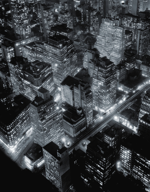 Berenice Abbott, Nightview, New York City, 1932 Gelatin silver print, 90 x 72 cm Ronald Kurtz / Commerce Graphics © Berenice Abbott / Commerce Graphics Ltd, Inc.