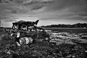 "On the border devastated by the Tsunami, from the series Fukushima ""No Go"" Zone, © Pierpaolo Mittica."