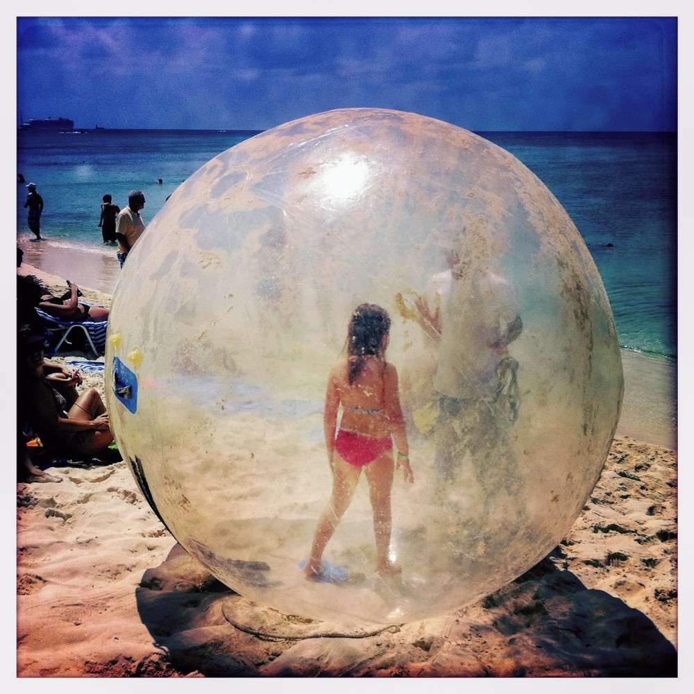 Bubble Girl, George Town, Grand Cayman Island,  Cayman Islands