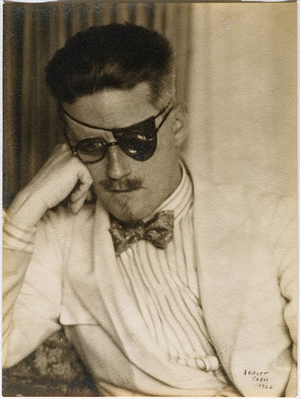 Berenice Abbott, Portrait of James Joyce with an eye patch, 1926 Gelatin silver print Ronald Kurtz / Commerce Graphics © Berenice Abbott / Commerce Graphics Ltd, Inc.