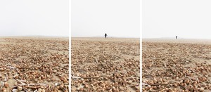 "'Walking into eternity on Sandymount strand', from the series ""Jumping for Joyce © Michael Marten"