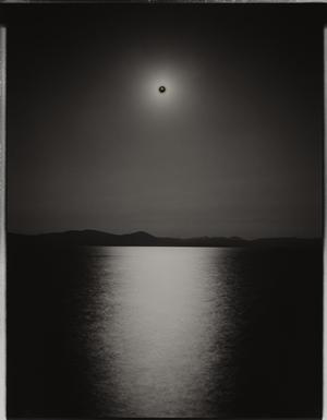 Sunburned GSP#121 (Nevada), 2007 Unique gelatin silver paper negative. 11x14 inches. © Chris McCaw
