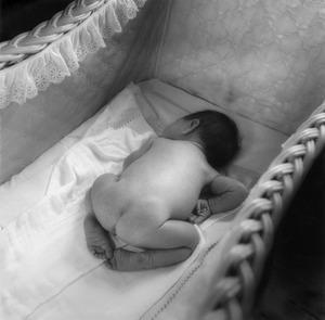 Julia, One Week Old, silver print 1975 ©Joanne leonard