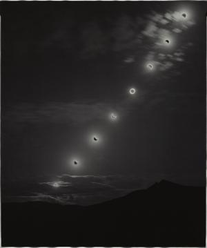 Sunburned GSP#576 (Annular Eclipse, Nevada), 2012 Unique gelatin silver paper negative. 20 x 24 inches. © Chris McCaw