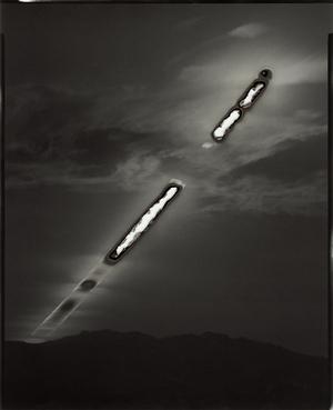 Sunburned GSP#235 (Black Rock), 2008 Unique gelatin silver paper negative. 8 x 10 inches. © Chris McCaw