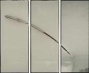 Sunburned GSP#510 (San Francisco Bay), 2011 Three unique gelatin silver paper negatives. 8 x 20 inches each. © Chris McCaw