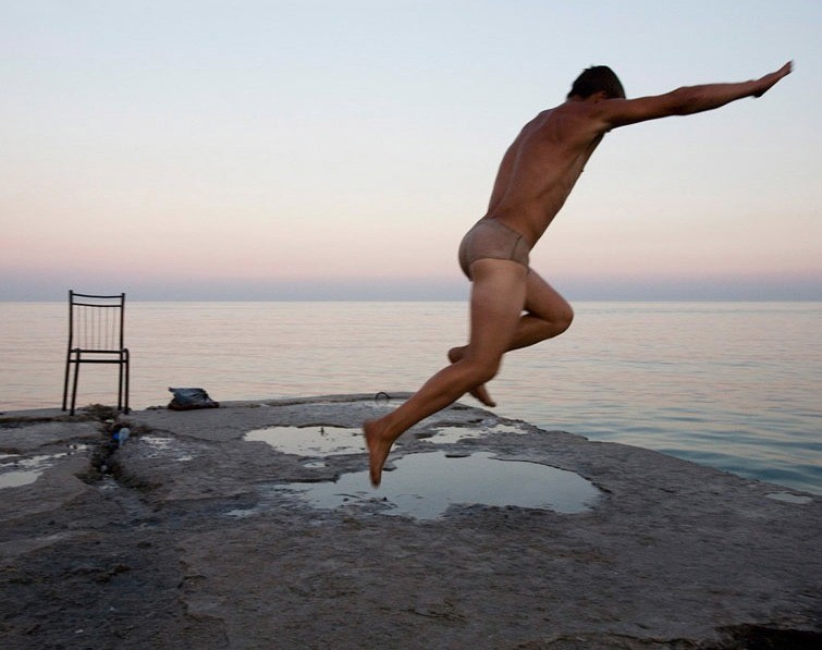 """A young man diving into the Black sea, Ukraine. From the series """"From the Mountains and to the Sea"""" © Nadia Sablin"""