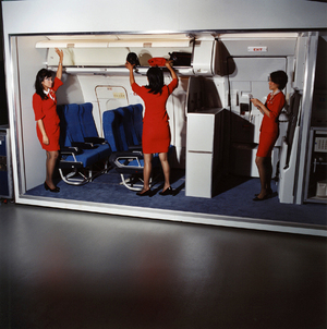 Azriza, Lily and Stella, Air Asia, 2006 © Brian Finke