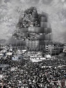 Tour de Babel, Agression, 2012 © Du Zhenjun, Gallerie RX