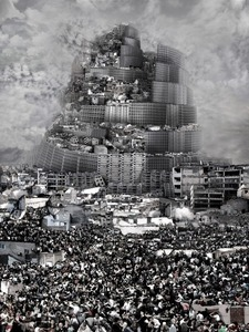 Tour de Babel, Agression, 2012 © Du Zhenjun, Gallerie RX