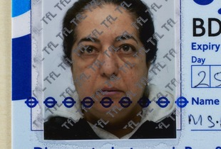 Afsaneh Mobasser, age 55. Oyster Photocard. Issued in London, 2012 © Ali Mobasser