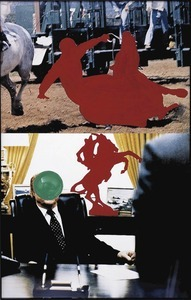 Two Persons on Horseback (One Fallen) © John Baldessari, Falckenberg Collection