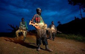 "Child Soldiers. From the series ""Kids"" © Zoran Marinovic."