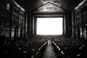 Morning film screening. Manoshi Cinema Hall, Bongshal, 2009. © Munem Wasif