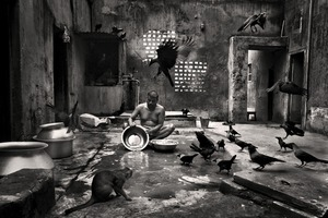 Bimol Da preparing fish for cooking at Beauty Boarding. Shirish Das Lane, 2011. © Munem Wasif