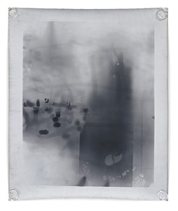 Untitled Berlin XVI, 127 x 152 cm, Silver Gelatin Print, Mixed Media © Jeff Cowen