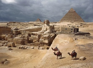 A 1940 photo of the Great Sphinx and pyramids of Giza suggests two long-gone worlds:  ancient Egypt and a Bedouin society not yet overtaken by the tidal wave of modernization. Giza, Egypt, 1940 © Anthony Stewart, National Geographic