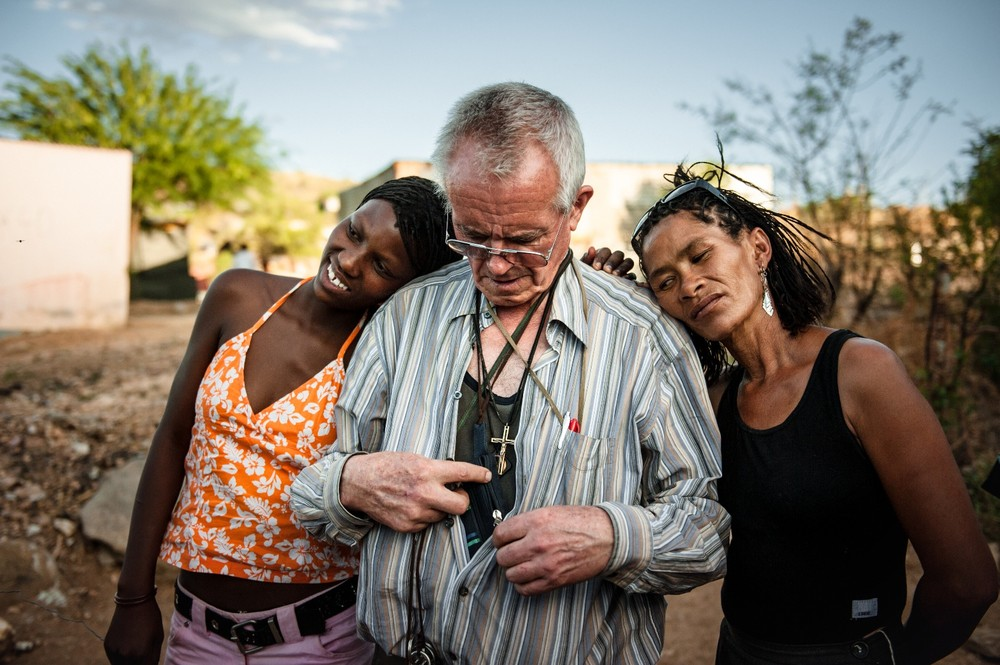 Father Hermann Klein-Hitpass has stood up for the weakest members of society in Namibia´s capital, Windhoek, for many decades © Christian Bobst
