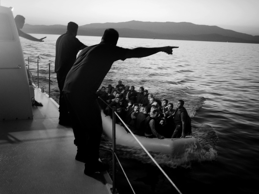 It was around 5 a.m. when the Greek Coast Guard identified a small boat floating towards Chios, a small island in the Aegean. There were 49 immigrants on board.