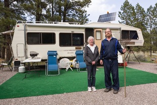Ralph and Patsy, Campground Hosts, Boulder Mountain, UT
