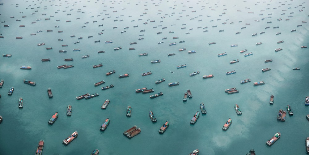 "West Lamma Channel, South China Sea. From the series ""Exodus"" © Marcus Lyon"