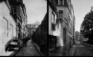 Rue Saint-Julien-le-Pauvre, 1898, © Eugene Atget. Rue Saint-Julien-le-Pauvre, 1997, © Christopher Rauschenberg.