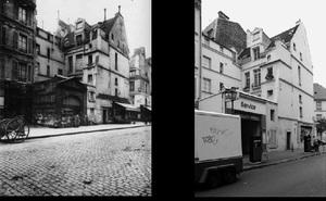 46 rue des Archives, 1901, © Eugene Atget. 46 rue des Archives, 1997, © Christopher Rauschenberg.