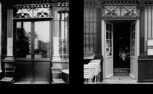 Cafe, 62 rue de l'Hôtel-de-Ville, 1903, © Eugene Atget. Cafe, 62 rue de l'Hôtel-de-Ville, 1997, © Christopher Rauschenberg.