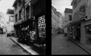 Rue Norvins, 1899, © Eugene Atget. Rue Norvins, 1997, © Christopher Rauschenberg.