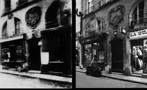 Les Canettes, rue des Canettes, 1898-1900, © Eugene Atget. Les Canettes, rue des Canettes, 1998, © Christopher Rauschenberg.